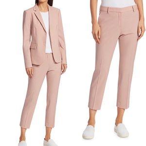 Theory testra 2B skinny crop wool pink pants 6 D1